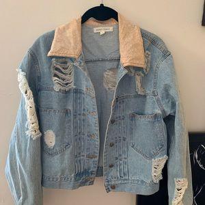honey bunch distressed denim jacket